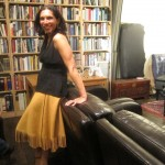 Lara Downes and her cool skirt from Albuquerque