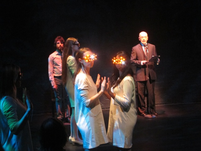 Act One - glasses designed and made by James Lo, The Speaker, John Hagan