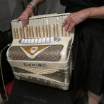 Andrea's sparkly accordion