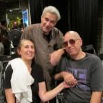 My pals -  poets Jane Grenier, Steve Dalichinsky, bassist, Albey Balgochian