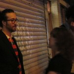 Sean Lennon and Andrea after the gig
