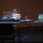 Buchla Synthesizer and Ableton on computer
