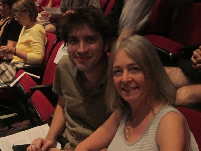 Joshue Ott and Joan La Barbara enjoying the concert