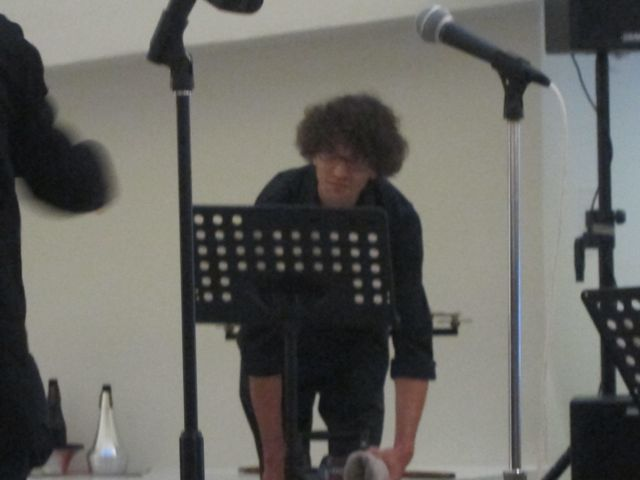 David Shively, percussionist - this time playing a siren