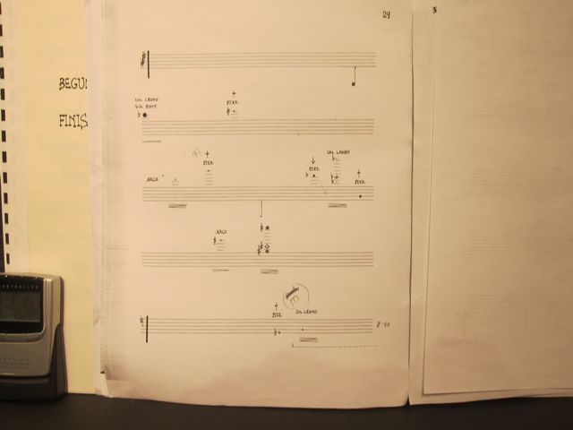 "Cage score - ""Thirty Pieces for String Quartet"""